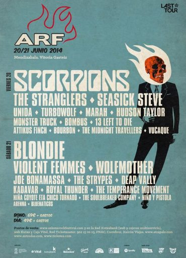 Azkena Rock Festival 2014 cierra su cartel con The Stranglers, Marah y The Temperance Movement