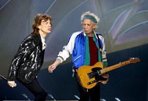 Mick Jagger y Keith en Oslo 2014
