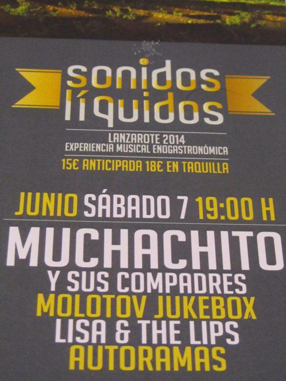 Sonidos Líquidos 2014 en La Geria, Lanzarote con Lisa & The Lips, Autoramas, Molotov Jukebox y Muchachito y sus Compadres