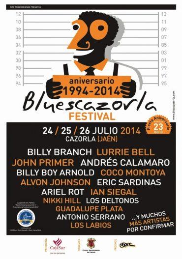 20º aniversario del Bluescazorla Festival y premio al mejor festival internacional de Blues