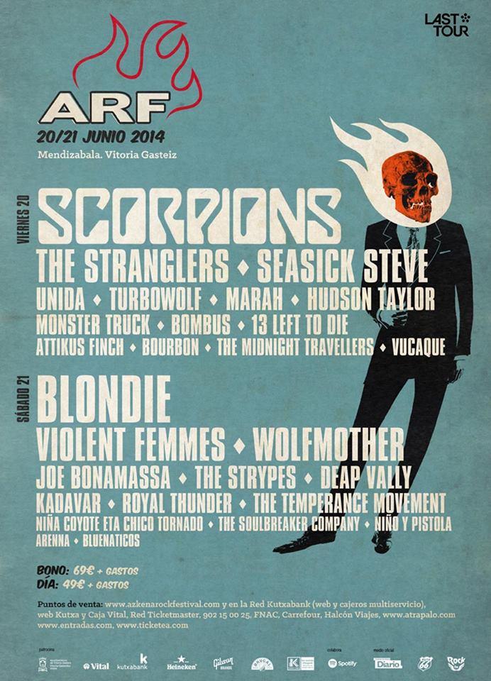 Azkena Rock Festival 2014, horarios y adjudicación de escenarios