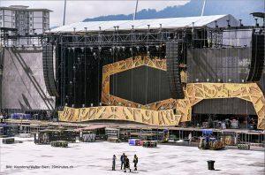 Escenario de The Rolling Stones en Zürich Suiza