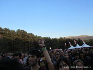 Público en músicos en la naturaleza 2014