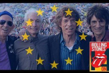 The Rolling Stones agradecen a todos sus fans en Europa su fidelidad