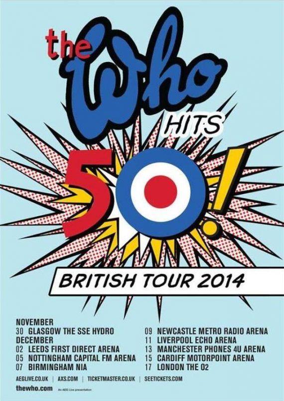 The Who, gira 50 aniversario y de despedida de los escenarios
