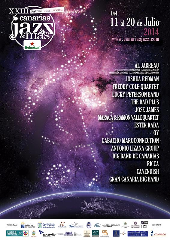 XXIII Festival Internacional Canarias Jazz & Más Heineken 2014 con Joshua Redman, Al Jarreau, Freddy Cole, Lucky Peterson o José James entre otros