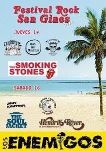 Festival de Rock San Ginés 2014 en Lanzarote con Los Enemigos, Hendrik Röver y Los Míticos GT, The Soul Jacket y Smoking Stones entre otros
