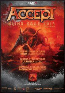 """Accept presentan en España """"Blind Rage"""" su nuevo disco dentro de una nueva gira europea"""
