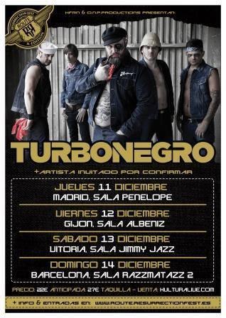 Gira española de los noruegos Turbonegro en diciembre