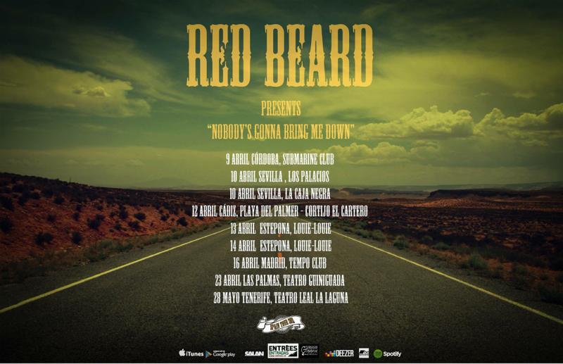 Red Beard anuncia gira española Nobody's gonna bring me