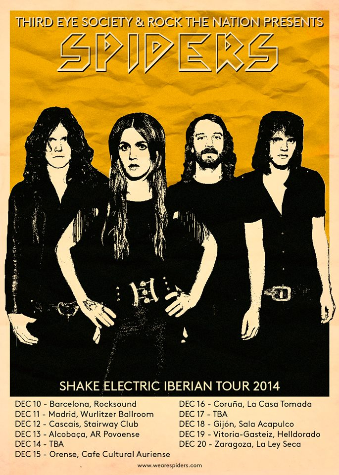 SPIDERS SHAKE ELECTRIC IBERIAN TOUR 2014