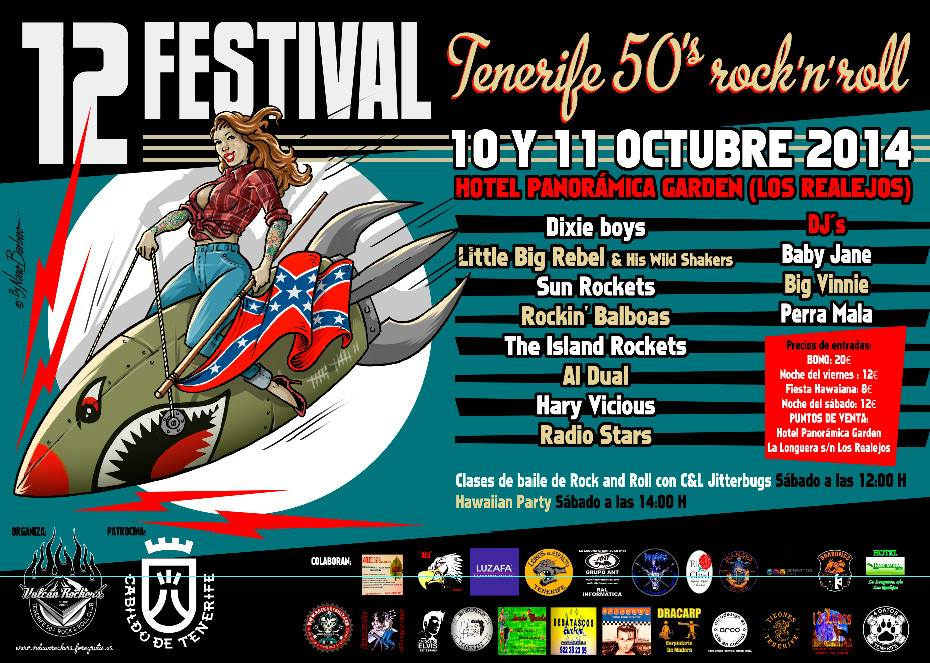 12 Tenerife 50′s Rock'n'Roll con Al Dual, The Sun Rockets, Dixie Boys y Little big rebel & his wild shakers entre otros