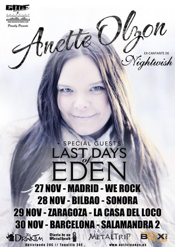 Anette Olzon cantante de Nightwish publica su primer disco en solitario y anuncia gira española