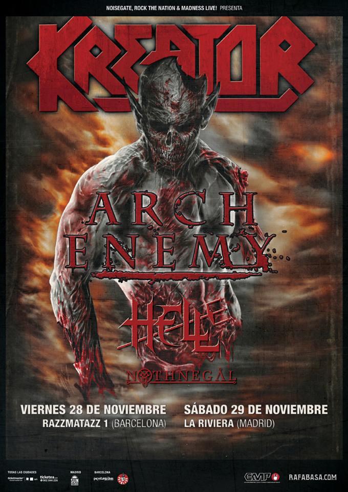 Kreator Phantom Antichrist, nuevo disco y gira española con Arch Enemy que presentan nuevo disco War Eternal