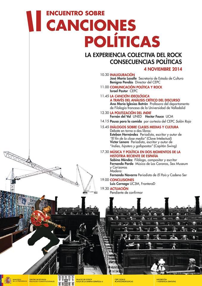 II Encuentro sobre canciones políticas en Madrid