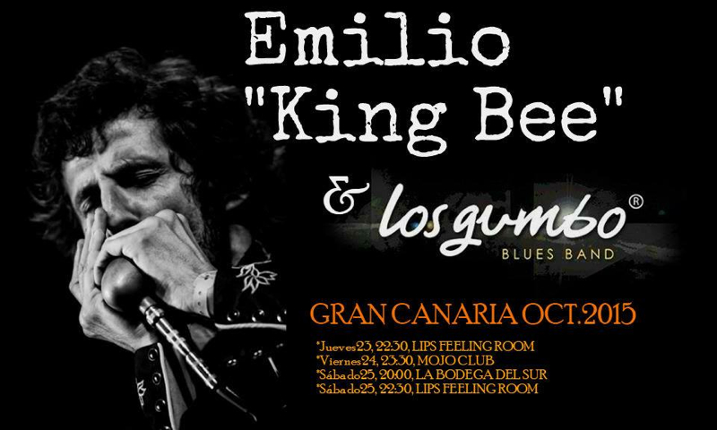 Emilio King Bee & Los Gumbo Blues Band en Gran Canaria