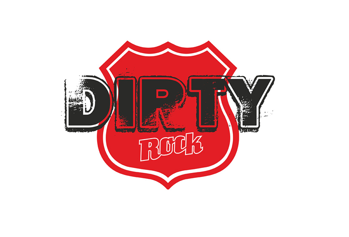 Dirty Rock Magazine logo Route