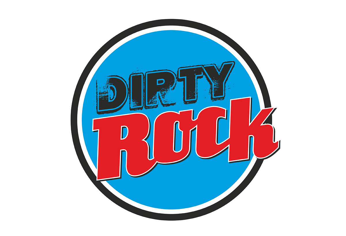 Dirty Rock magazine logo botón