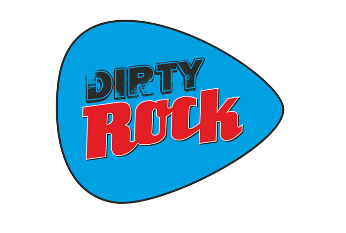 Dirty Rock magazine logo púa