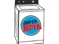 Dirty Rock magazine logo Washing Machine