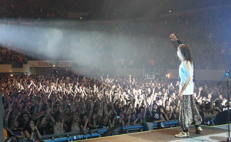 Extremoduro en el concierto de su gira en Zaragoza