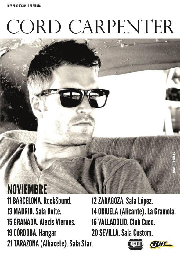 Cord Carpenter entrevista y gira española 2014