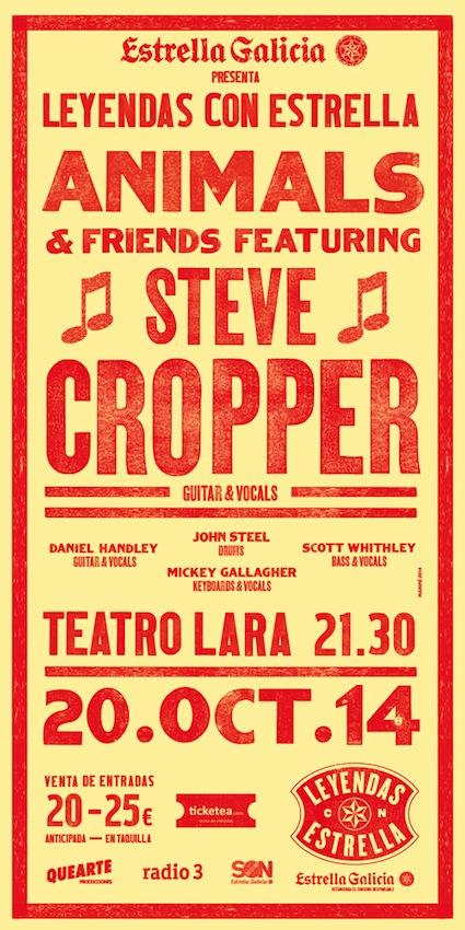 Steve Cropper junto a The Animals & Friends rememoran sus mejores años