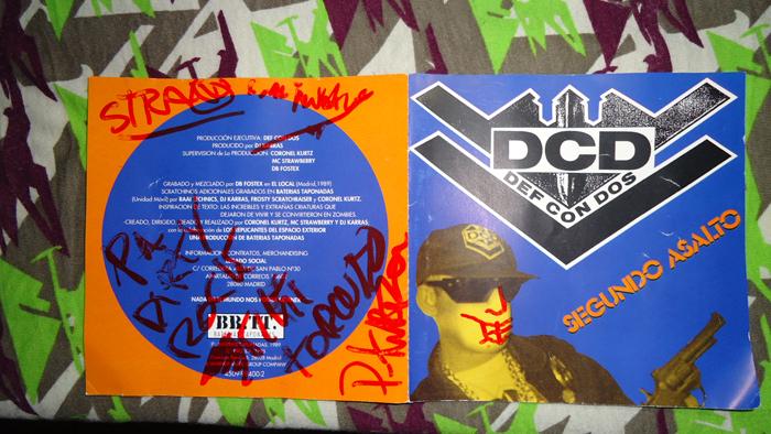 Def Con Dos en el Pig Fest firmado un disco a dirty rock magazine