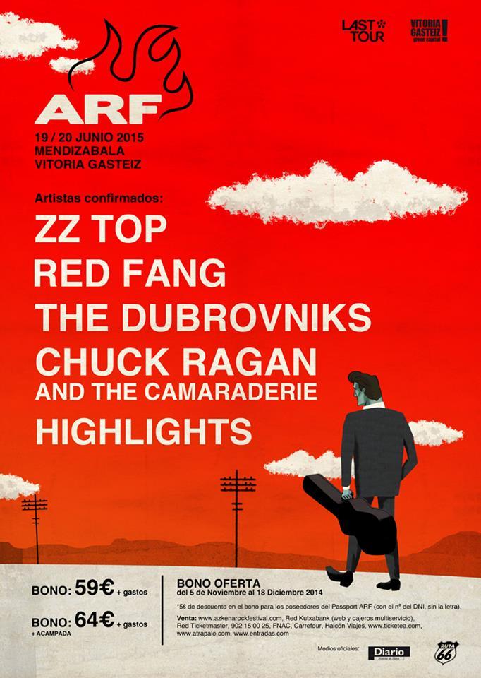 ZZ Top en el Azkena Rock Festival 2015 ARF