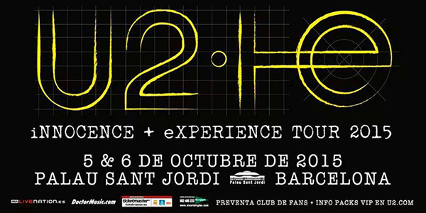 U2 agotan sus entradas para los dos conciertos en Barcelona en su gira Innocence + Experience