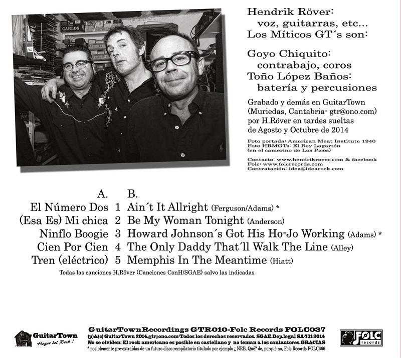 Hendrik Röver & Los Míticos GT's ¡Incluye futuros clásicos!, publica nuevo disco