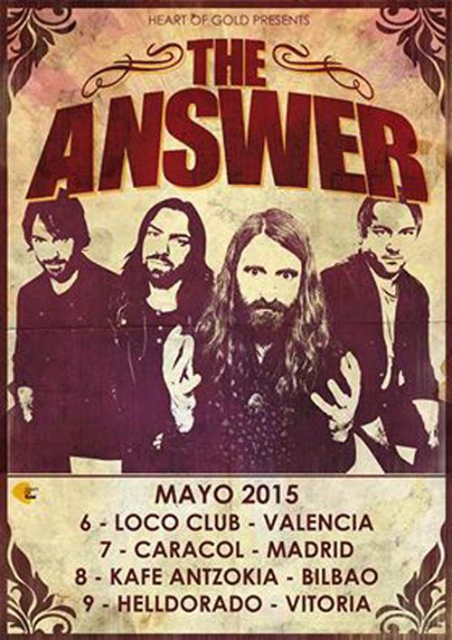 The Answer gira española en mayo 2015