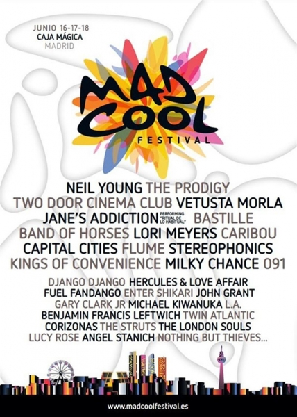 Neil Young en Madrid en el Mad Cool Festival junio 2016