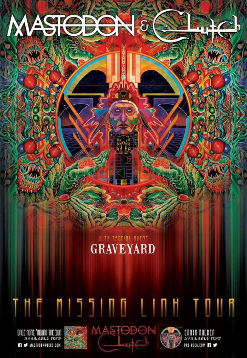 Mastodon, Clutch y Graveyard The Missing Link Tour nueva gira por Estados Unidos 2015