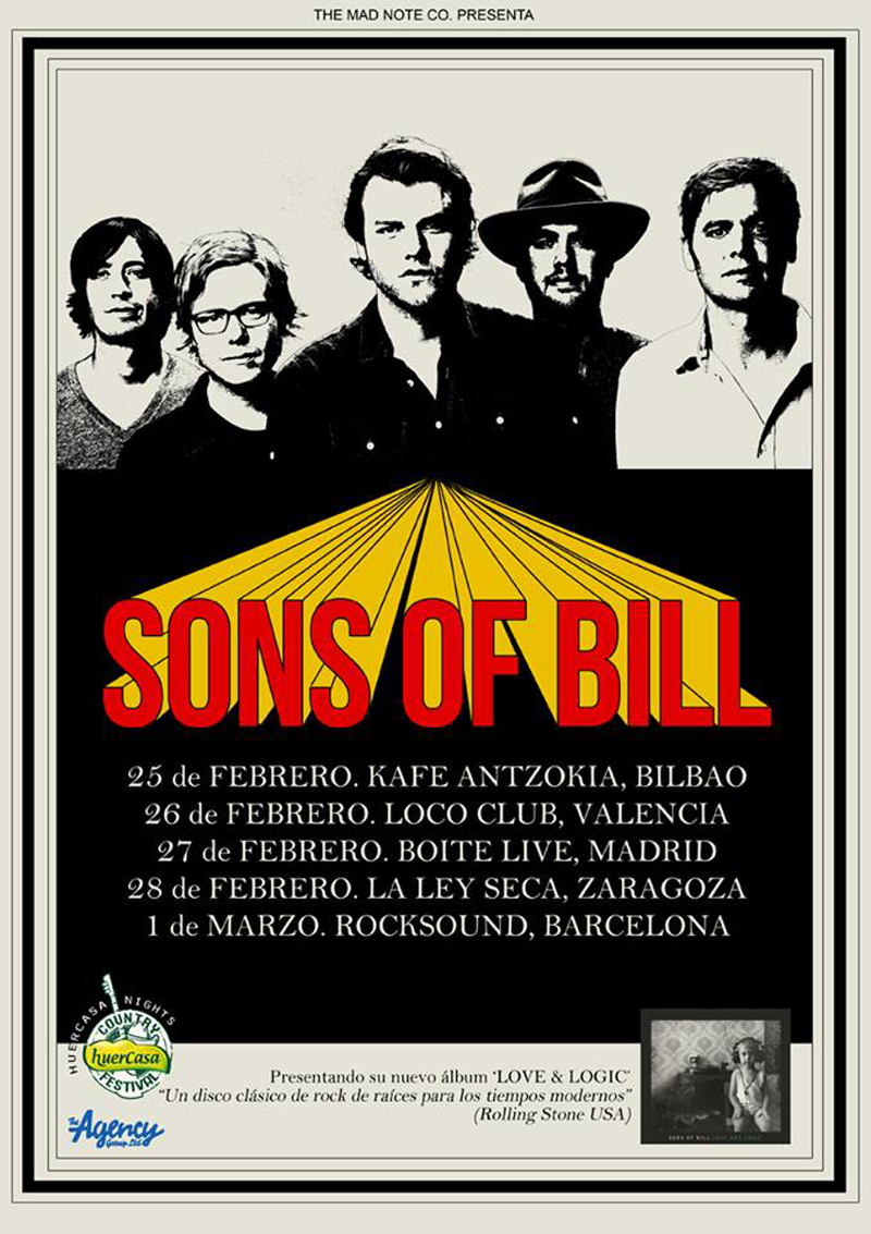 Sons of Bill y su gira española para presentar Love and Logic