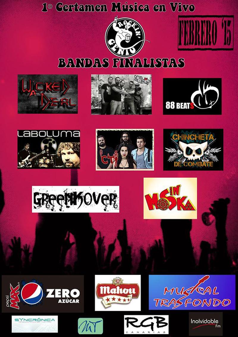 Rockin' Genio 2015 Fase Final bandas finalistas