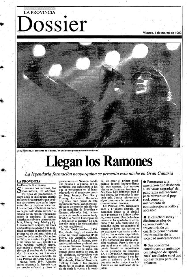 Ramones en Las Palmas, los trae Juan Salán.jpg