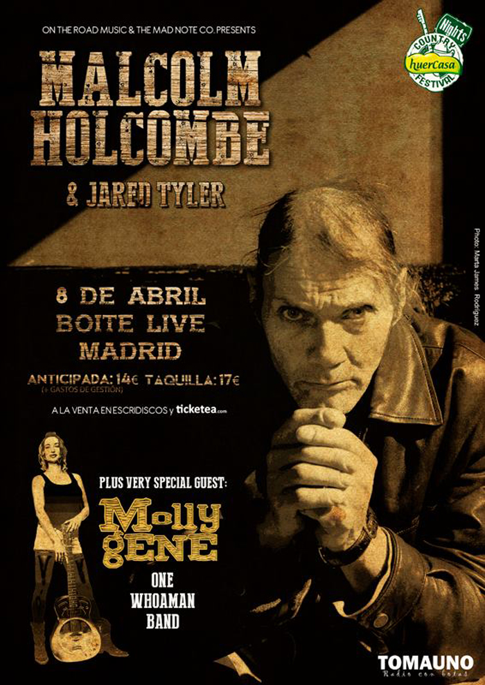 Malcolm Holcombe y Molly Gene en Madrid 2015.jpg
