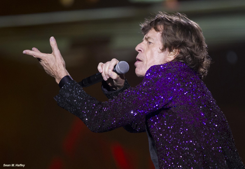5/23/2015 San Diego, Ca. | The Rolling Stones begin their US Tour Sunday night at Petco Park downtown.  Mick Jagger, The Rolling Stones frontman and lead singer rocks Petco Park.| Photo Sean M. Haffey