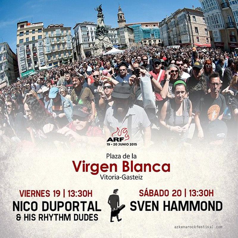 Azkena Rock Festival 2015 horarios plaza Virgen Blanca