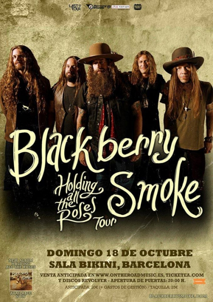 Blackberry Smoke en Barcelona 2015