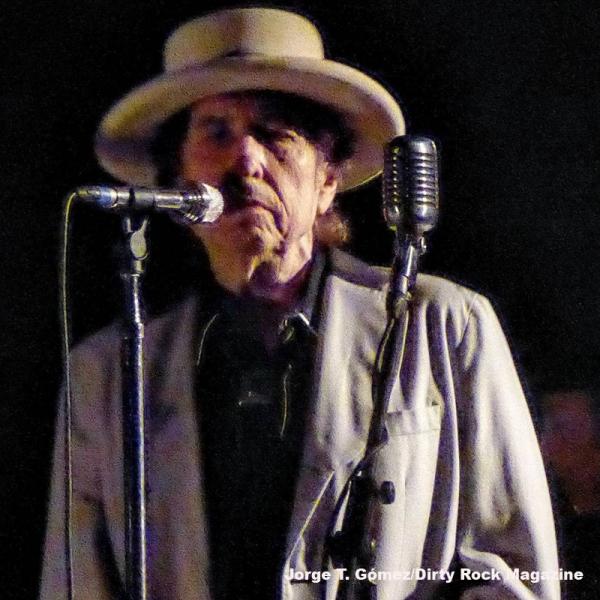 Bob Dylan en su concierto en Madrid 2015
