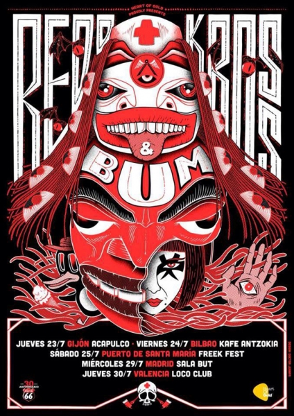 Red Kross gira española 2015 y fiesta en el Loco Club