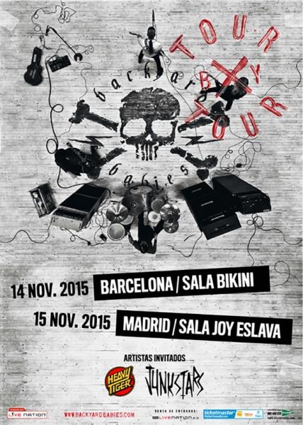 Backyard Babies gira española 2015