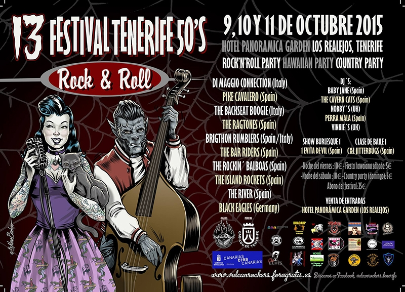 13 Tenerife 50 Rock and Roll 2015 cartel