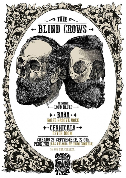 Thee Blind Crows en Tenerife y Gran Canaria para presentar su Primitive Loud Blues 2015
