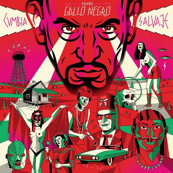 Sonido Gallo Negro Cumbia Salvaje en Tenerife Festival Boreal España 2015