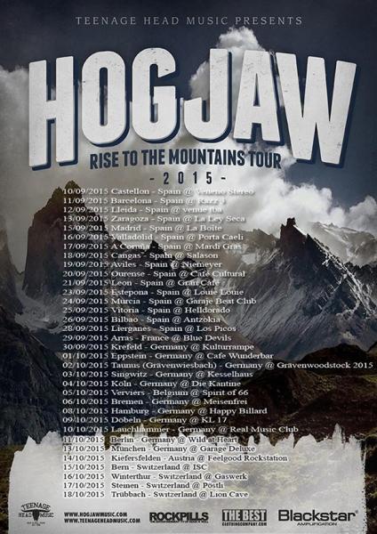 Hogjaw Rise To The Mountains, nuevo disco, gira española y europea