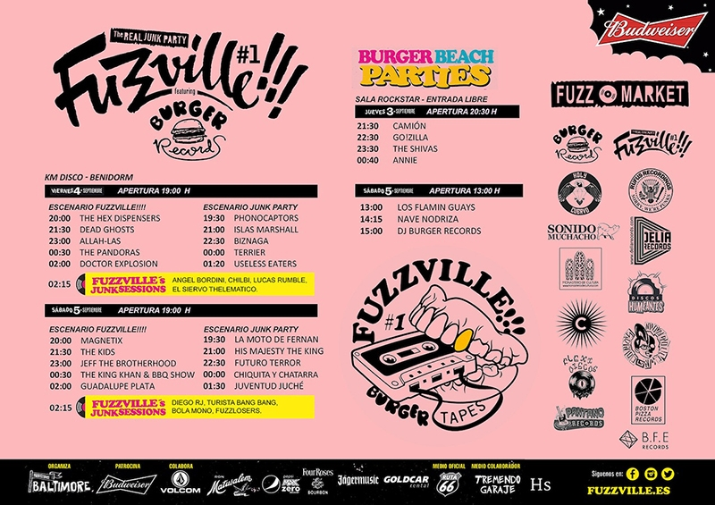 Horarios del Festival Fuzzville 2015 en Benirdorm 2015