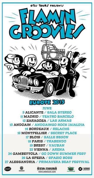 Flamin Groovies entrevista Europe Spain tour 2015